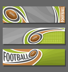 horizontal banners for american football vector image