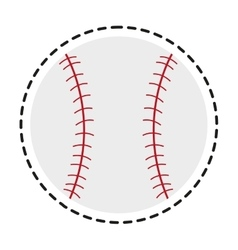 Isolated baseball toy design vector
