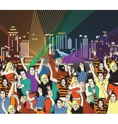 Lgbt gay homosexual night disco party vector image vector image