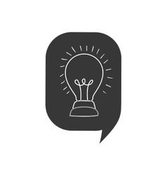Light bulb bubble big idea creative icon vector