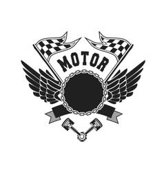 Motorcycle badge vector