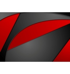 Red black wavy corporate background vector