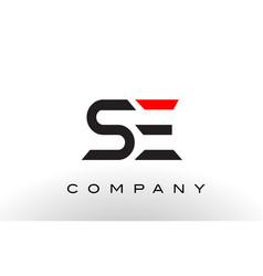 se logo letter design vector image vector image