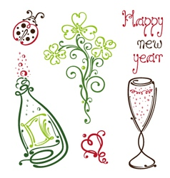 Sylvester happy new year vector
