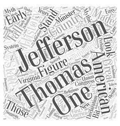 Thomas jefferson word cloud concept vector