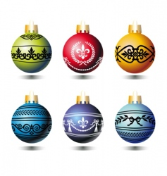 xmas colorful balls vector image vector image