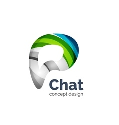 Business logo template - chat cloud vector