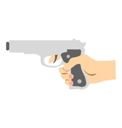 Hand with gun icon flat style vector
