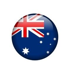Australian Flag Glossy Button vector image
