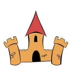 Medieval castle fortress icon cartoon vector