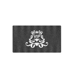 elegant grey business card with victorian ornament vector image