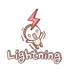Be struck by lightning vector