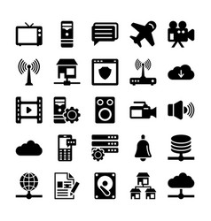 Network and communication icons 6 vector