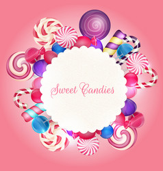 Sweets background vector