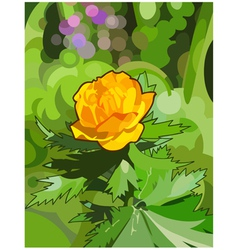 Orange flower forest vector