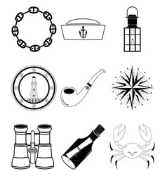 Nautical elements iv vector