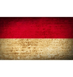 Flags indonesia with dirty paper texture vector