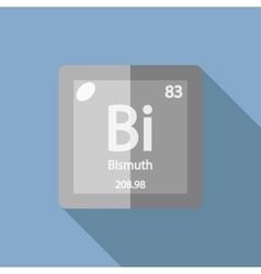 Chemical element bismuth flat vector