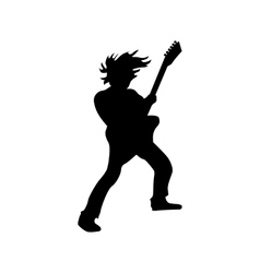 Guitarist silhouette black vector
