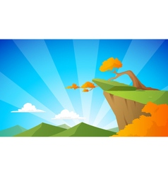 Cliff background vector