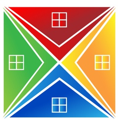Houses logo vector image