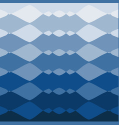 Aqua blue abstract background smooth wavy shapes vector