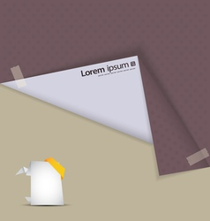 Background origami vector image