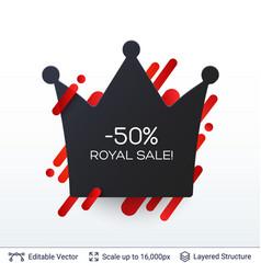 Black friday royal sale badge vector