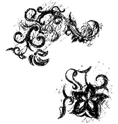 Black grunge ornate vector