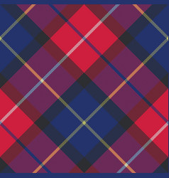 Blue tartan pixel fabric texture seamless pattern vector