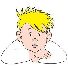 Cartoon blonde boy vector