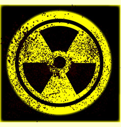 Caution radioactive vector