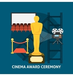 Cinema award ceremony vector image vector image