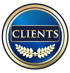 Clients Blue Label vector image vector image