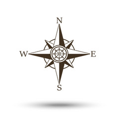 compass wind rose icon isolated vector image