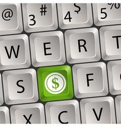 Computer keyboard with dollar key vector