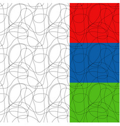 curved lines with dots vector image vector image
