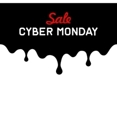 Cyber monday background with sale tag on red vector