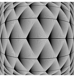 Design warped diamond geometric pattern vector