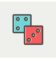 Dices thin line icon vector image vector image