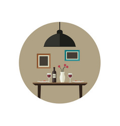 dinner flat vector image vector image