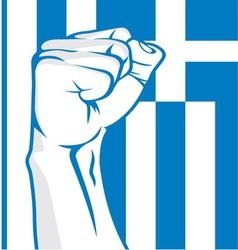 Greek fist vector image vector image