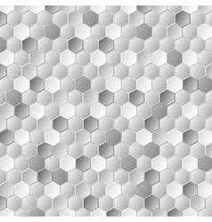Grey metallic hexagons pattern texture vector