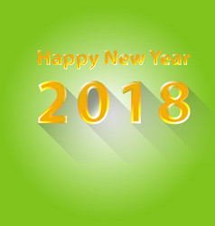 happy new year 2018 flat design vector image