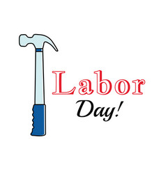 holiday greetings labor day vector image