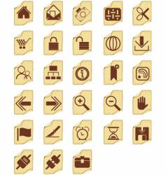 Icon buttons vector