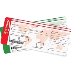 image of airline boarding pass ticket vector image