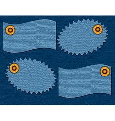 label of denim texture vector image vector image