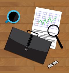 Market trend chart vector