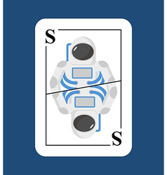 Playing card Spaceman Conceptual new card vector image vector image